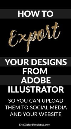 This Adobe Illustrator Tutorial will explain how to export your vector designs as JPEG and/or PNG format so you can upload them to social media and/or your website.