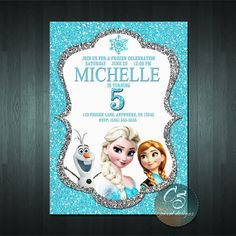 Frozen Birthday Invitation Printable Frozen Invitation Frozen