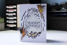 Geburtstagskarte Feen, Hero Arts, My Monthly Hero Kit August