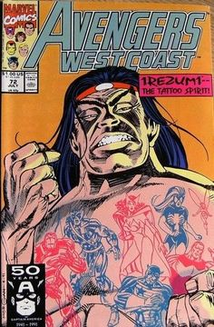 Marvel Comics Avengers West Coast #72 JULY 1991