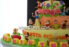 Vin's Cakes - Birthday Cake & Cupcake - Wedding Cupcake - Bandung Jakarta Online Cakes Shop: Snow White & Tinkerbell Cake for Callysta's Birthday!