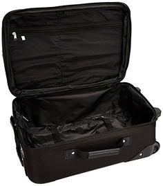 4723740f121 Amazon.com   Rockland Luggage 2 Piece Set, Black Gray, One Size   Luggage  Sets