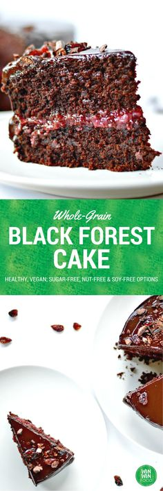 Black Forest Cake | WIN-WINFOOD.com #healthy #vegan #wholegrain #sugarfree option