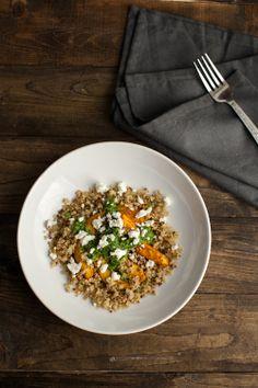 Naturally Ella | Adobo Acorn Squash, Crispy Quinoa, and Jalapeño Chimichurri