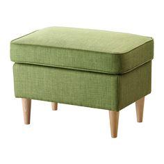 """STRANDMON Footstool - Skiftebo green - IKEA $89 has darker legs. Width: 23 5/8 """" Depth: 15 3/4 """" Height: 17 3/8 """""""