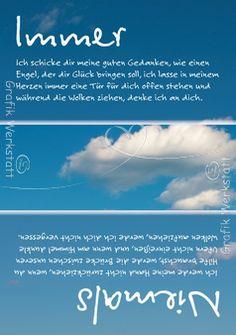 Immer / Niemals - Postkarten - Grafik Werkstatt Bielefeld