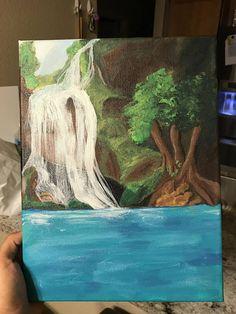 Acrylic secret waterfall painting