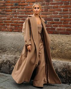 """NET-A-PORTER on Instagram: """"4 WAYS TO WEAR A CAMEL COAT: There are few items more classic, flattering and versatile than the camel coat. Tap the link in bio to…"""" Caroline Daur, Milan, Street Looks, Monochrome Fashion, Camel Coat, Weekend Style, Pullover, Street Chic, Street Fashion"""