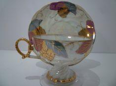 VINTAGE TEACUP Set. Antique Opalecent Teacup Set. Collectible