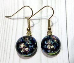 Pierced Earrings / Fused Glass(MJ-073) #earrings #glass #fusedglass #ピアス