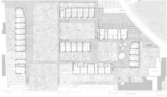 OPERASTUDIO - Project - Social housing in Switzerland - Ground floor #plan  #housing #Swiss #competition #floor #plan