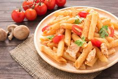 Day-Off Diet Penne With Chicken: Satisfy your pasta cravings with this easy, penne recipe.