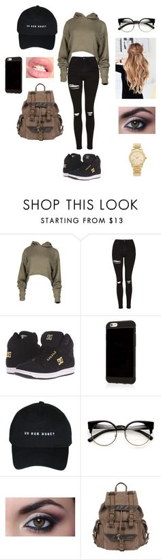 """School 12"" by sarakaser ❤ liked on Polyvore featuring Topshop, DC Shoes, Wilsons Leather and Michael Kors"