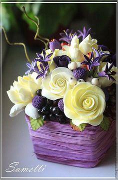 Resultado de imagem para clay flower bouquet