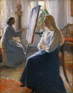 MICHAEL ANCHER Anna Ancher Painting in the Studio