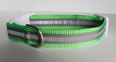 Reflective Safety Dog Collar by RogueCollars on Etsy