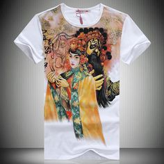 Summer new arrival 2013 fashion chinese style print male short-sleeve T-shirt straight male short-sleeve t shirt men's clothing