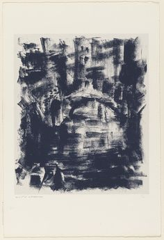 'Nocturne' (1951) by French artist André Masson (1896-1987). Lithograph on chine collé, 22 x 15 in. via MoMA
