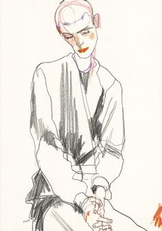 Howard Tangye fashion illustration Howard Tangye is best known for his work, as a designer, illustrator and teacher in the world of fashion. As head of womenswear at Central Saint Martins, he has. Art And Illustration, Fashion Illustration Sketches, Fashion Sketchbook, Art Sketchbook, Guy Drawing, Life Drawing, Figure Drawing, Central Saint Martins, Art Inspo