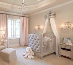 15 Cutest Baby Girl Nursery Room Ideas (pink & girly) Every mother dreams about decorating her baby girls' nursery. When you think of a baby girl nursery room most people think pink and girly. Today, that's exactly what I'm going to give you. Baby Bedroom, Baby Room Decor, Girls Bedroom, Bedrooms, Baby Gurl Nursery, Baby Rooms, Baby Girl Bedroom Ideas, Baby Girl Nurseries, Baby Nursery Ideas For Girl