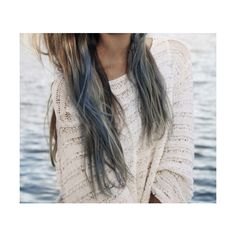 blue hair | Tumblr ❤ liked on Polyvore featuring pictures, hair, photos, girls, backgrounds and fillers