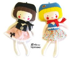 Dress Up Doll and Doll Clothes PDF Sewing Pattern
