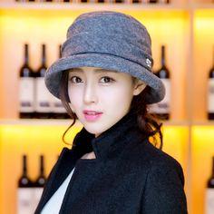 cb206019ebb Siggi hats female Korean autumn winter fashion wool beret elegant volume  small flashes bucket Hat fisherman