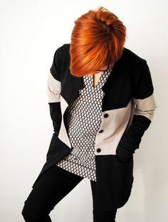 Color block jacket http://hommahuone.blogspot.fi/2015/10/nosh-organics.html
