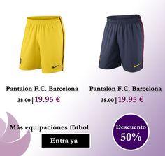 Descuentos del 50% en pantalones cortos del F.C. Barcelona en nuestra  tienda online www.entretiendas.com Antes  38.00€ Ahora  19.95 €  outlet   futbol e029e34d7fcf7