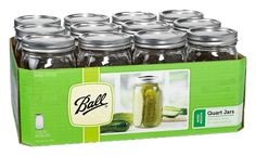 Jarden 52505 Wide Mouth Ball Jar, 32-Ounce, Case of 12 ** You can get more details by clicking on the image.