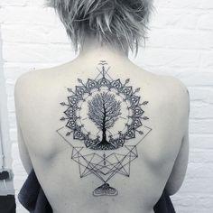 tree of life mandala tattoo