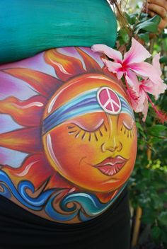 Prenatal Art/ Belly Art  Baby Sunshine!! www.heatherslivingart.com