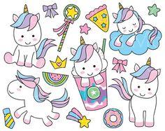 Lindo unicornio Clipart unicornio lindo Clip arte Unicorn etiqueta Digital lindo Animal Clipart unicornio Frappucino Clipart unicornio arco iris imágenes prediseñadas