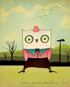 'Country Owl' by Penelope and Pip