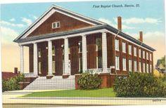 Herrin First Baptist Church, Herrin, IL ... probably 1960's