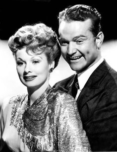 Allsmiles Red Skelton puts his arms around Lucille Ball's waist in musical film 'DuBarry Was a Lady' based on homonymous Broadway opera USA 1943 Golden Age Of Hollywood, Hollywood Stars, Classic Hollywood, Old Hollywood, Hollywood Icons, Queens Of Comedy, Lucille Ball Desi Arnaz, Lucy And Ricky, Red Skelton