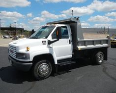 2004 GMC C5500 dump #truck at auction with Repocast