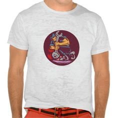 Mechanic Wrench Unscrewing Circle Woodcut Tee Shirts. Illustration of a mechanic holding giant wrench unscrewing set inside circle on isolated background done in retro woodcut style. #Illustration #MechanicWrenchUnscrewing