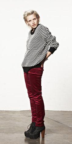 red velvet pants!