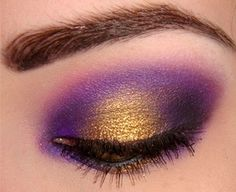 A pinch of gold brightens up this dramatic look, i have a feeling this will make brown eyes POP!