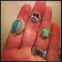 @ericacourtneyjewelry account! TheCourtneyCollection  ParaibaTourmaline, Csarite, Opal. EricaCourtneyJewelry   #LoveGold #opalicious #Tourmaline