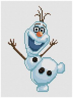 PDF Cross Stitch pattern 0207.Olaf Frozen INSTANT by PIXcross
