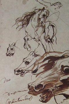 Antoine Van Dyck (1599-1641), « Étude de cavalier et de cheveaux » (lundi 11 juin 2012, 16:17:00).