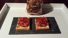 "María Martín Romano del blog ""Fogones y Melones"" comparte su tosta #GeniusSinGluten Sin Gluten, French Toast, Breakfast, Blog, Recipes, Potatoes, Red Bell Peppers, Cookers, Planks"