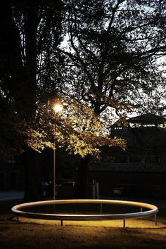 "Read more about Ronan und Erwan Bouroullec's four seat installations called ""oui"" for the park of Kunsthal Aarhus Aarhus, Landscape Lighting Design, Direct Lighting, Public Garden, Outdoor Lighting, Yard Lighting, Light Installation, Outdoor Landscaping, Studio"