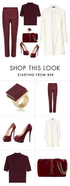 """""""Senza titolo #1312"""" by granatina ❤ liked on Polyvore featuring Trina Turk, Wood Wood, Giuseppe Zanotti, The Row, Theory and Yves Saint Laurent"""