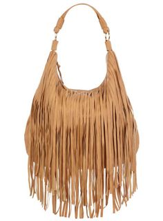 tan purse with fringes