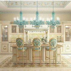 Luxury Kitchen Design - Let Us Take On Your Newburgh Kitchen . Luxury Kitchen Design, House Design, Interior Design Kitchen, Luxury Kitchens, House Interior, French Country Kitchens, Beautiful Kitchens, Shabby Chic Kitchen, Blue Chandelier