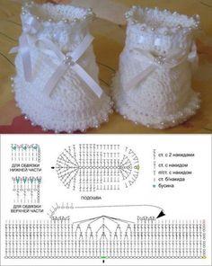 Best 11 Adorable bootied – Page 764063893011667407 – SkillOfKing. Crochet Baby Boots, Crochet Baby Sandals, Crochet Baby Clothes, Crochet Slippers, Crochet Shoes Pattern, Crochet Patterns, Baby Girl Patterns, Crochet Magazine, Freeform Crochet