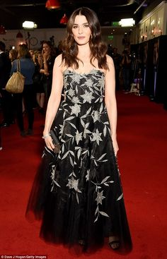 Leading lady:actress Rachel Weisz was certainly the centre of attention on Wednesday night as she dazzled at the London premiere of her new film My Cousin Rachel